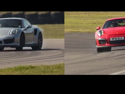 En este vídeo enfrentan a los Porsche 911 Turbo S y GT3 RS en circuito. ¿Cuál habrá ganado?