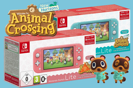 Nintendo Switch Lite con Animal Crossing: New Horizons y tres meses de online a su precio más bajo en Amazon