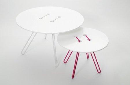 Interesante versión de las mesas botón