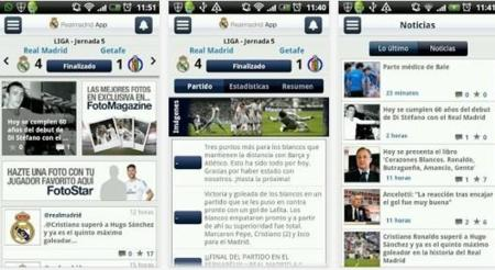 Aplicación Real Madrid