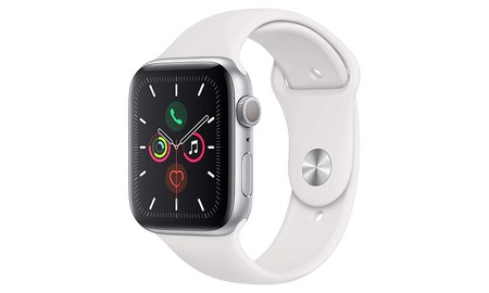 Precio mínimo en Amazon para el Apple Watch Series 5 de 44mm en color gris plata y blanco: sólo 429 euros