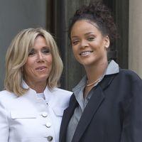 Cuando Rihanna encontró a Brigitte Macron: un choque de estilismos en el Palacio del Elíseo de París