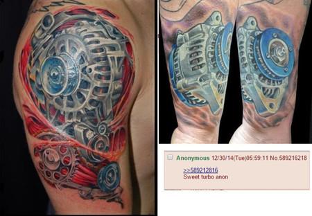 Turbo FAIL: Se tatúa un alternador en lugar de un turbocompresor