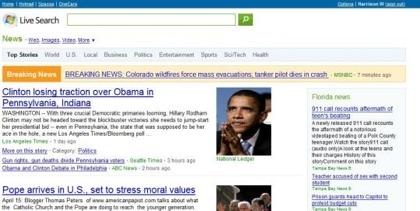 Microsoft Live Search News