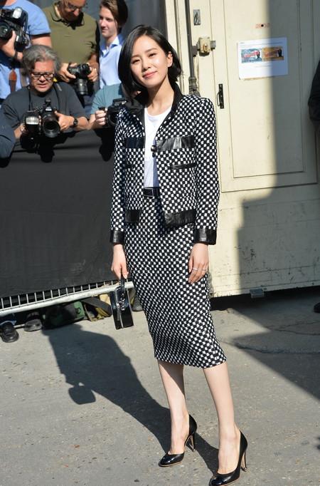 front row chanel alta costura Liu Shishi