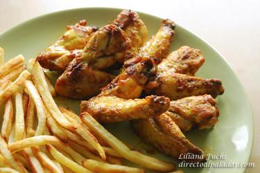 Alitas de pollo con aire marroquí. Receta