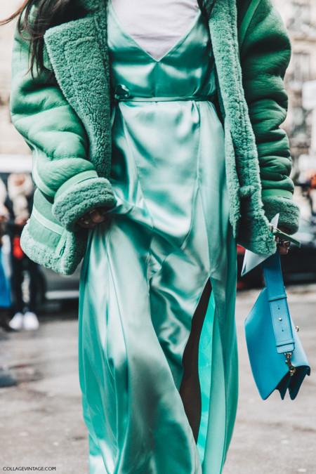 Pfw Paris Fashion Week Fall 2016 Street Style Collage Vintage Gilda Abrossio The Attico Dress 2