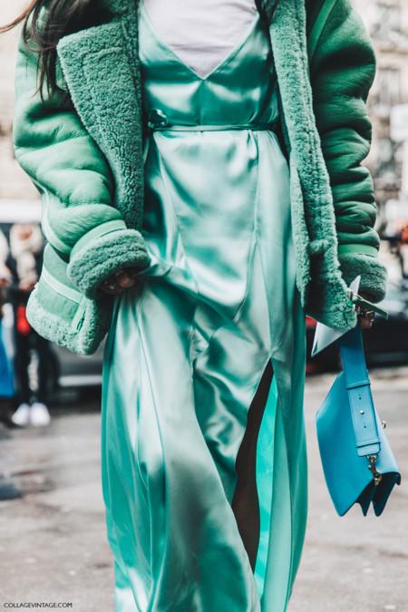 Pfw Paris Fashion Week Fall 2016 Street Style Collage Vintage Gilda Abrossio The Attico Dress 2