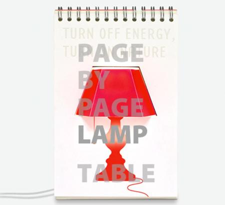 Page by Page Lamp, pasa la página y cambia de lámpara