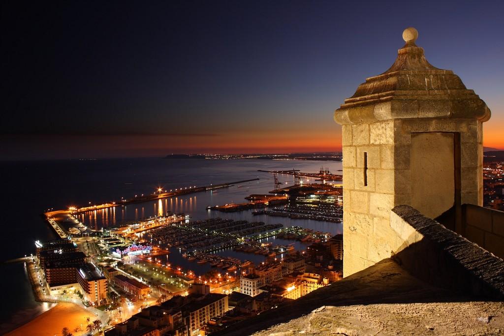 Los mejores miradores de Alicante: el castillo de Santa Bárbara