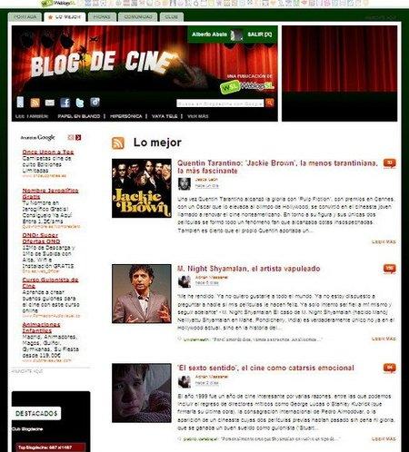 Nueva pestaña con lo mejor de Blogdecine y comentarios con Facebook