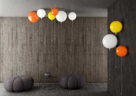 ¿Quieres darle un punto festivo a tu casa? Instala lámparas con forma de globos