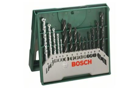Set de 15 brocas para madera, piedra y metal Bosch Mini X-Line rebajado a 9,25 euros en Amazon