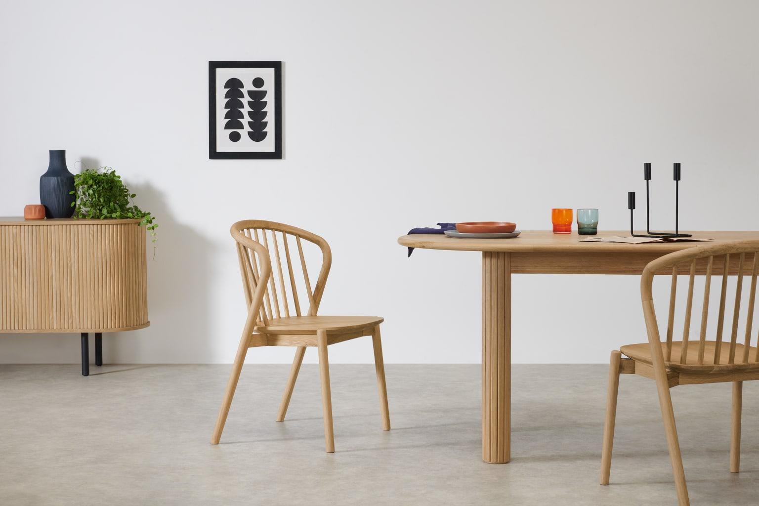 Set de dos sillas de diseño nórdico