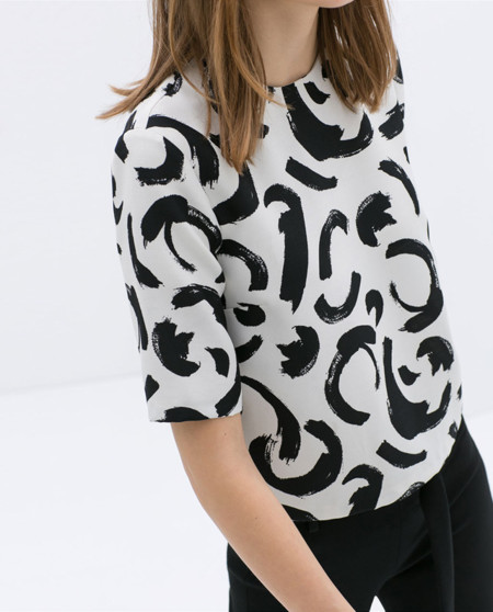 Céline Primavera-Verano 2014 print blanco y negro clon Zara