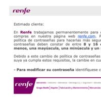 """Renfe pide a sus usuarios que cambien de contraseña debido a """"actividad inusual"""" en la web"""