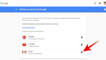 Borrar Gmail