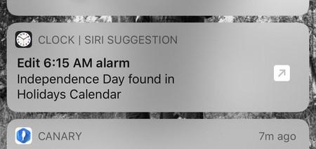 Sugerencia Siri Alarma