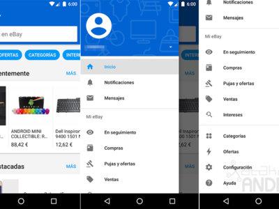 eBay 5.0 para Android estrena Material Design para mejorar su navegación e interfaz