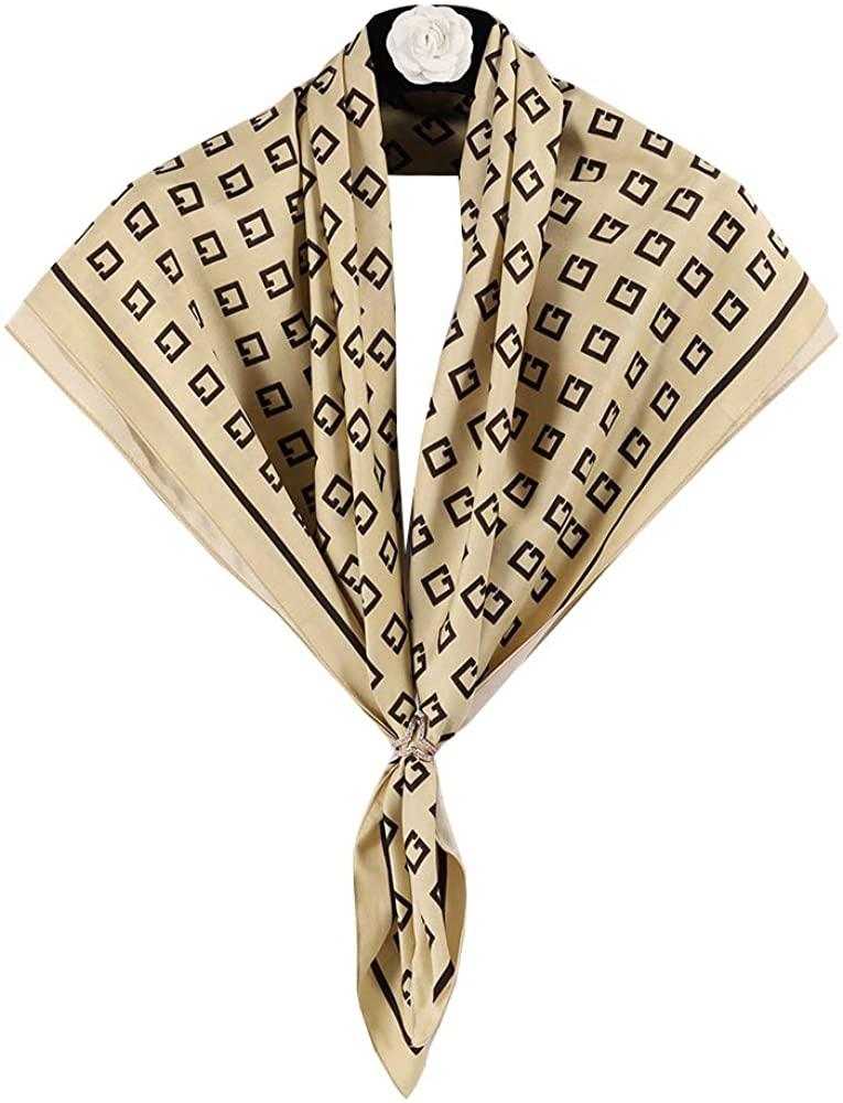 Bellette Mujer Panuelo de Seda Fulares Pañuelos para la cabeza Bufandas Pañuelo de Cuadrado