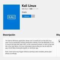 Kali Linux para Windows ahora disponible para descargar desde la Microsoft Store