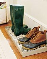 Hazlo tú mismo: un sitio donde dejar los zapatos mojados