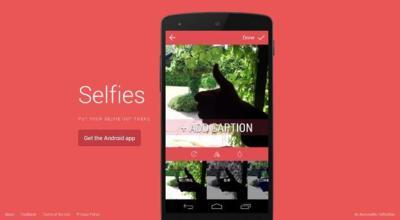 Selfies, una aplicación centrada en compartir fotos de nosotros mismos