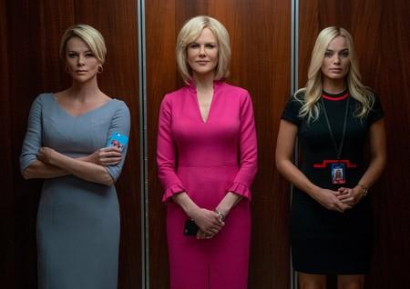 Nicole Kidman, Charlize Theron y Margot Robbie impresionan en el trailer de Bombshell, que ya suena para los Oscars