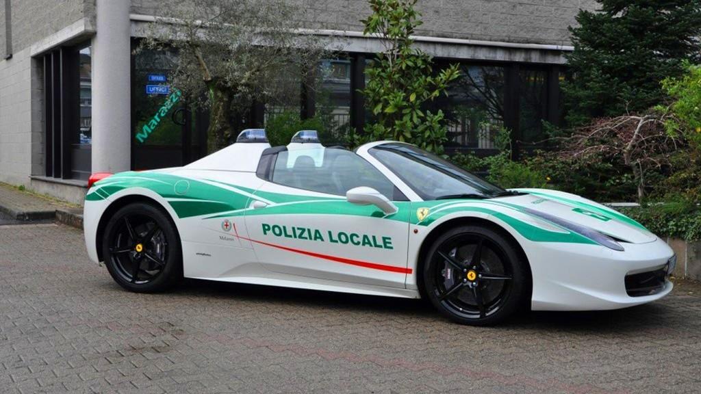 Ferrari 458 Spider Milan Police 1
