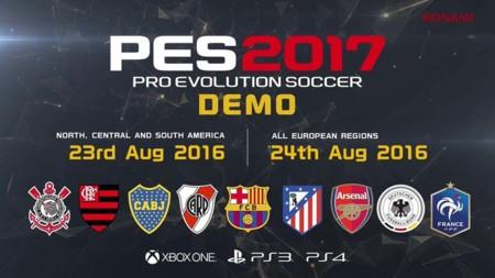 PES 17 tendrá demo a finales de agosto y ya tenemos su tráiler de la Gamescom