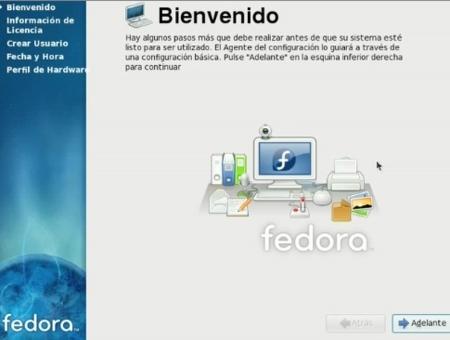 Instalar Fedora 10 - Bienvenida