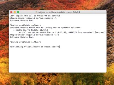 Cómo acelerar la actualización de tu Mac usando el terminal