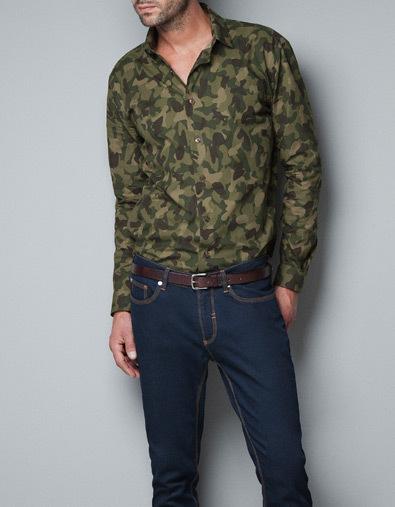 Camisa camuflaje de Zara