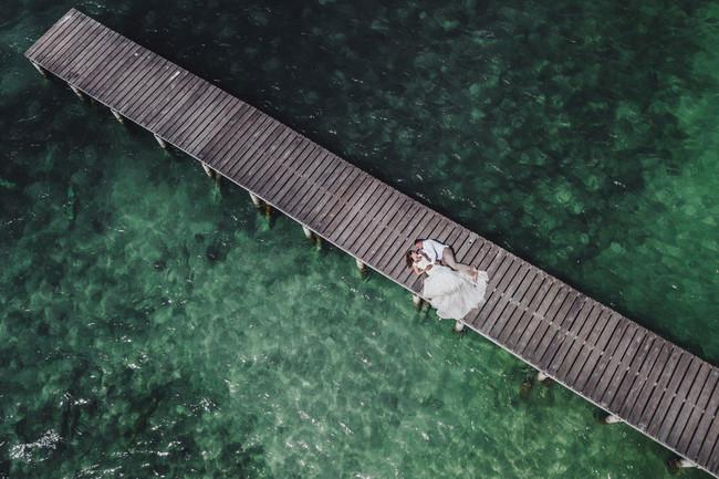 Cuando introducir los drones en la fotografía de bodas se convierte casi en necesidad