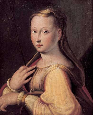 Presumed Self Portrait As St Catherine Of Alexandria Barbara Longhi