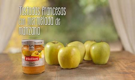 tostada francesa con mermelada de manzana