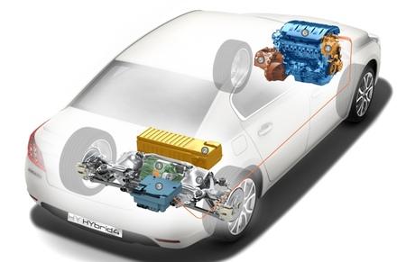 Peugeot 508 HYbrid4 imagen técnica