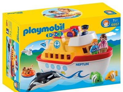 Ideal para playa y piscina: set barco-maletín de Playmobil que flota por 29,98 euros en Amazon con envío gratis