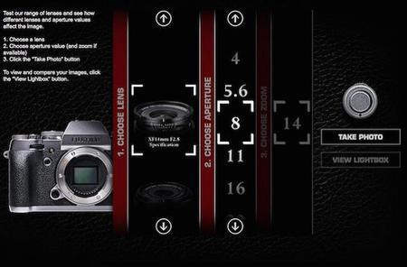 Fujifilm ha lanzado una eficaz simulación web de toda su gama de ópticas