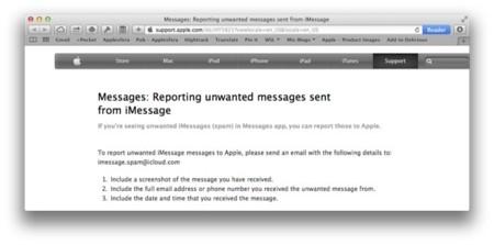 Apple publica solución para acabar con los problemas de SPAM en Mensajes y Facetime