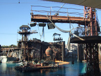 El espectáculo de Waterworld en los Universal Studios