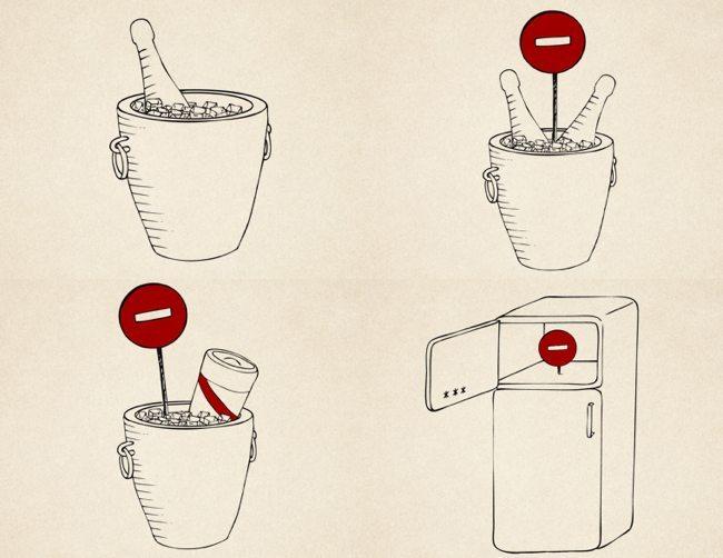 Protocolo champán - temperatura y cubitera