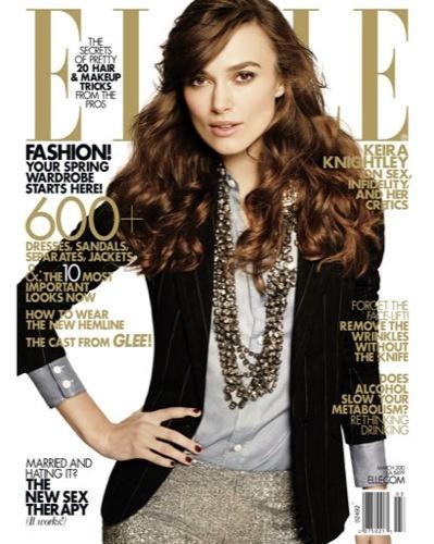 Keira Knightley en la portada de Elle