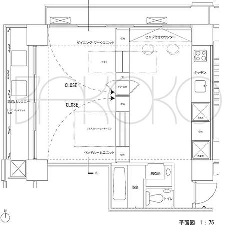 El plano de la masión Matsudo.