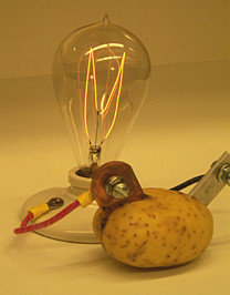 Sacar electricidad de las patatas