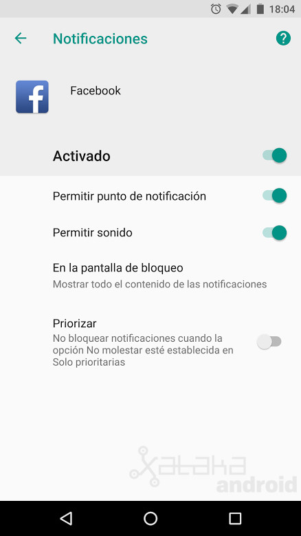 Oreo Notificaciones