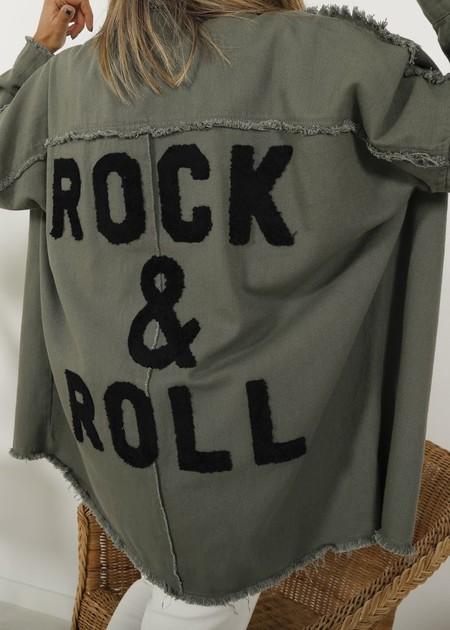 Sobrecamisa Deshilachada Rock Roll Kaki 1