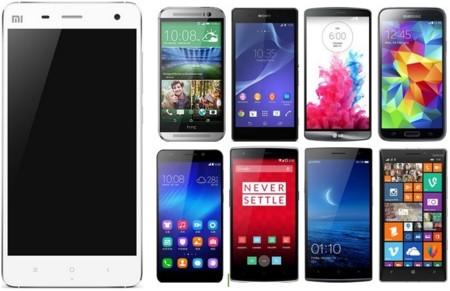 Así queda la gama alta de smartphones dentro y fuera de nuestras fronteras