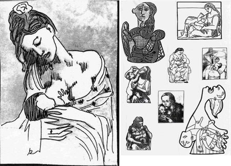 "Las ""Maternidades"" de Picasso para colorear"