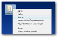 Truco: Recupera la opción Buscar en el menú de botón derecho de Windows Vista Service Pack 1